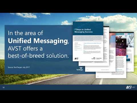 2018 AVST Webinar - Options for Microsoft Exchange Online UM Customers (325)