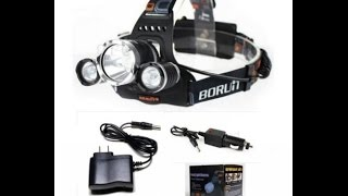 Налобный фонарик Boruit 5000lm(Налобный фонарик Boruit 5000lm 5000LM 3 xCREE XML T6 LED Rechargeable Headlight Headlamp Flashlight car charge Не один из моих китайских ..., 2014-12-23T08:54:31.000Z)
