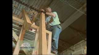 Setting Timber Shed Rafters Inside