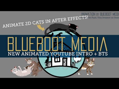 YouTube Intro Animation, Behind the Scenes: How Blueboot Media Animated 2D Cats in After Effects