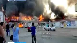 В Красноярском крае сгорел крупный торговый центр