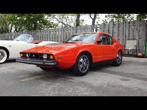 1974 SAAB Sonett III aka SAAB 97 in Orange & V4 Engine Sound on My Car Story with Lou Costabile