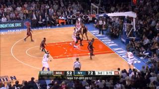 New York Knicks all 19 Three-Pointer vs Miami Heat - 02/11/2012