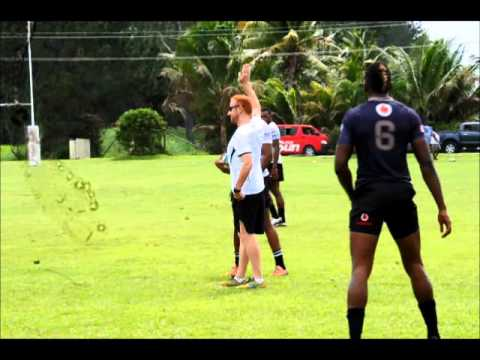 Fiji 7s team training @ Uprising Resort, Deuba