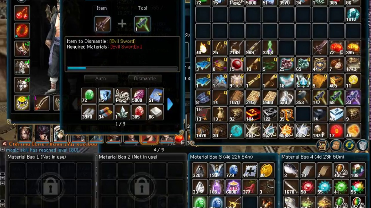 Arte Online Enhance Dell Arte Phantom Sword From Zero To Legend Atlantica Online 2017