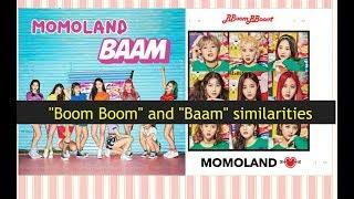 """Similarities between Momoland """"Baam"""" and """"Boom boom"""""""