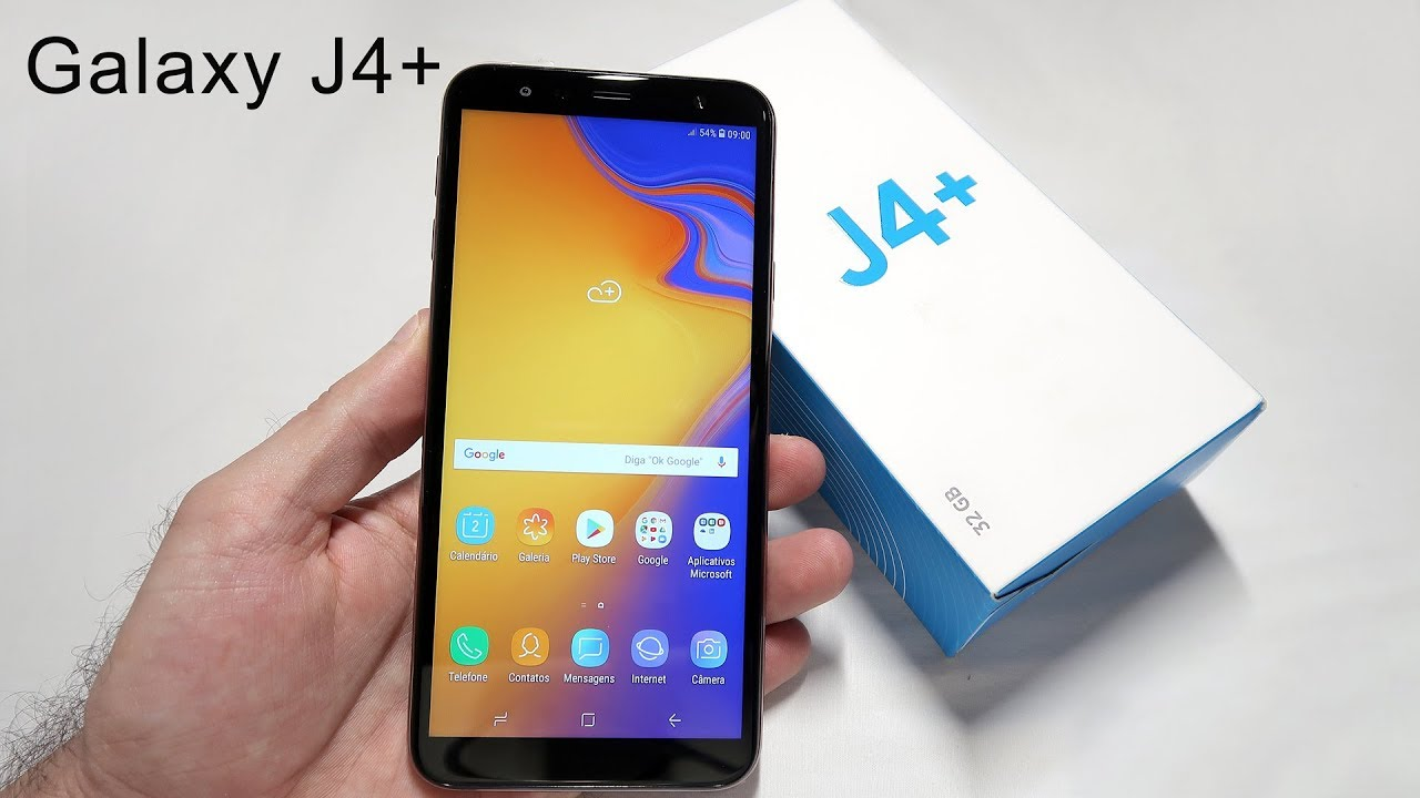 6c91bddf5 Galaxy J4+ (J4 Plus) Tirando da Caixa - Unboxing - YouTube