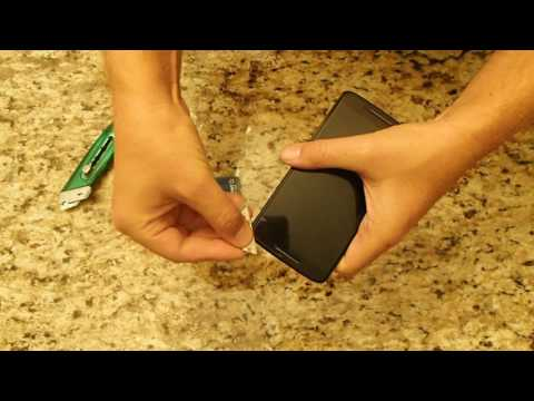 Tutorial: Removing Tempered Glass Screen Protector from phone Droid Maxx 2