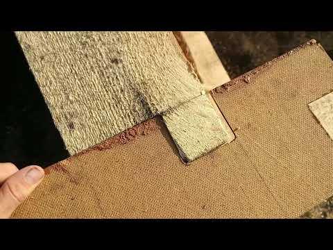Строим дом из бруса своими руками Часть 4 Возведение стен,угловое соединения в шип паз 1