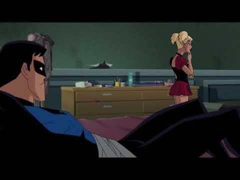Harley Quinn ties up Nightwing