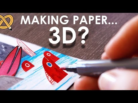 When artists have too much paper... GO 3D! - ArtSnacks Unboxing & Challenge thumbnail