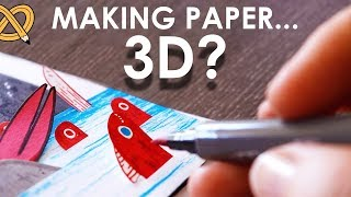 When artists have too much paper... GO 3D! - ArtSnacks Unboxing & Challenge