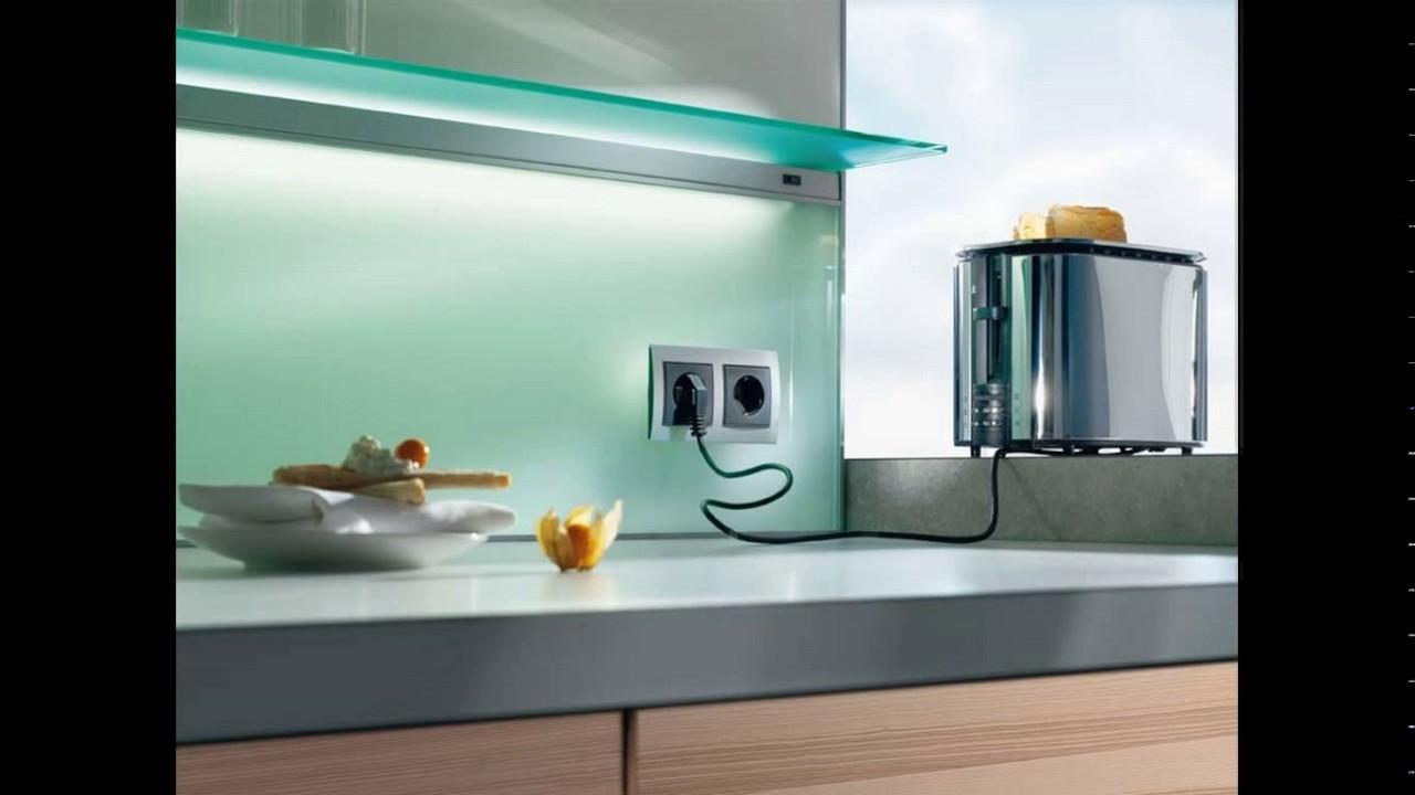 Kitchen glass wall design - YouTube