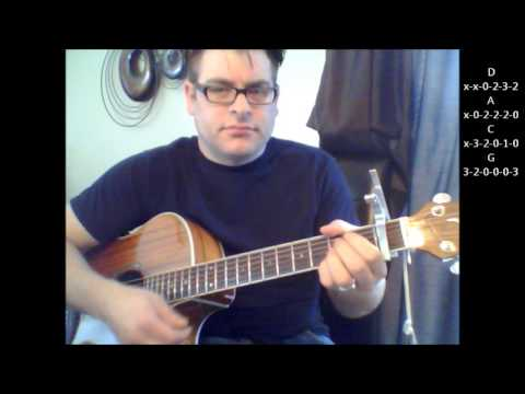 How To Play Waterfalls By TLC With Strumming Pattern On Acoustic Guitar