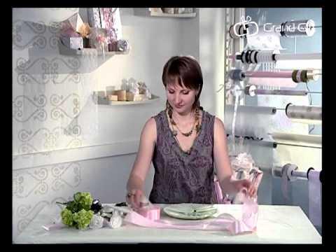Как упаковать оригинальный свадебный подарок - тарелка с фото молодоженов. Урок 14