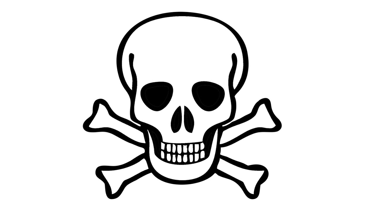 كيفية رسم الجمجمة القراصنة هيكل عظمي Youtube