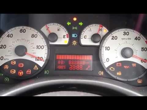 Fiat Punto Warning Lights Self Test  YouTube