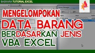 Cara Mengelompokan data di Excel  Baskara Tutorial Excel Padarincang