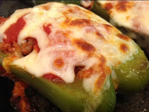 AVA'S FLAVA  EPISODE 54  PIZZA STUFFED BELL PEPPERS