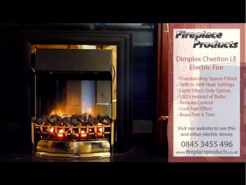 Dimplex Cheriton Le Electric Fire Youtube