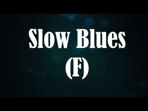 Slow Blues Backing Track F