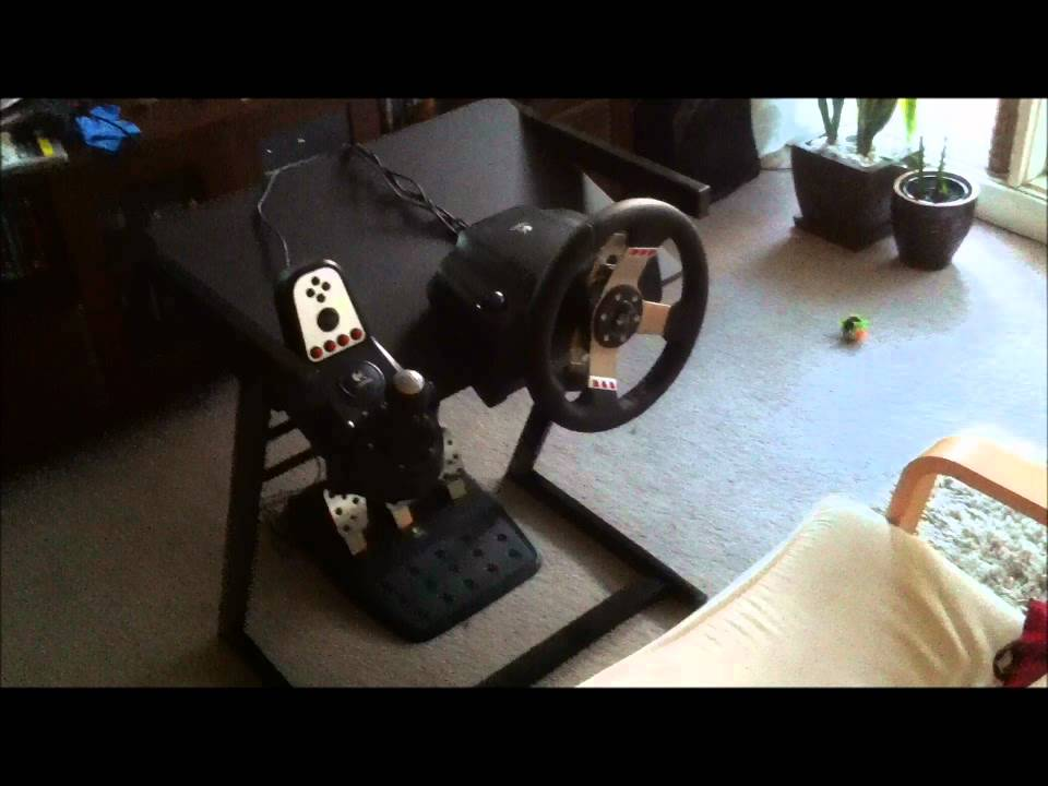Home Made Steering Wheel Stand For 35 Youtube