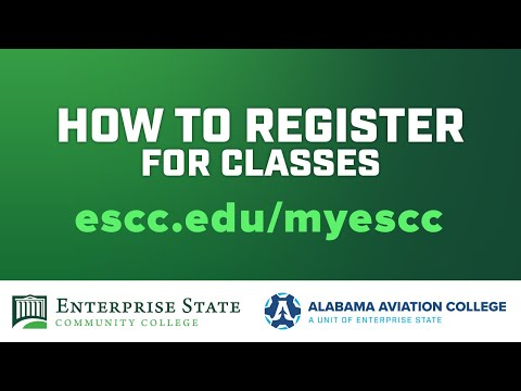 How to Register | Enterprise State Community College