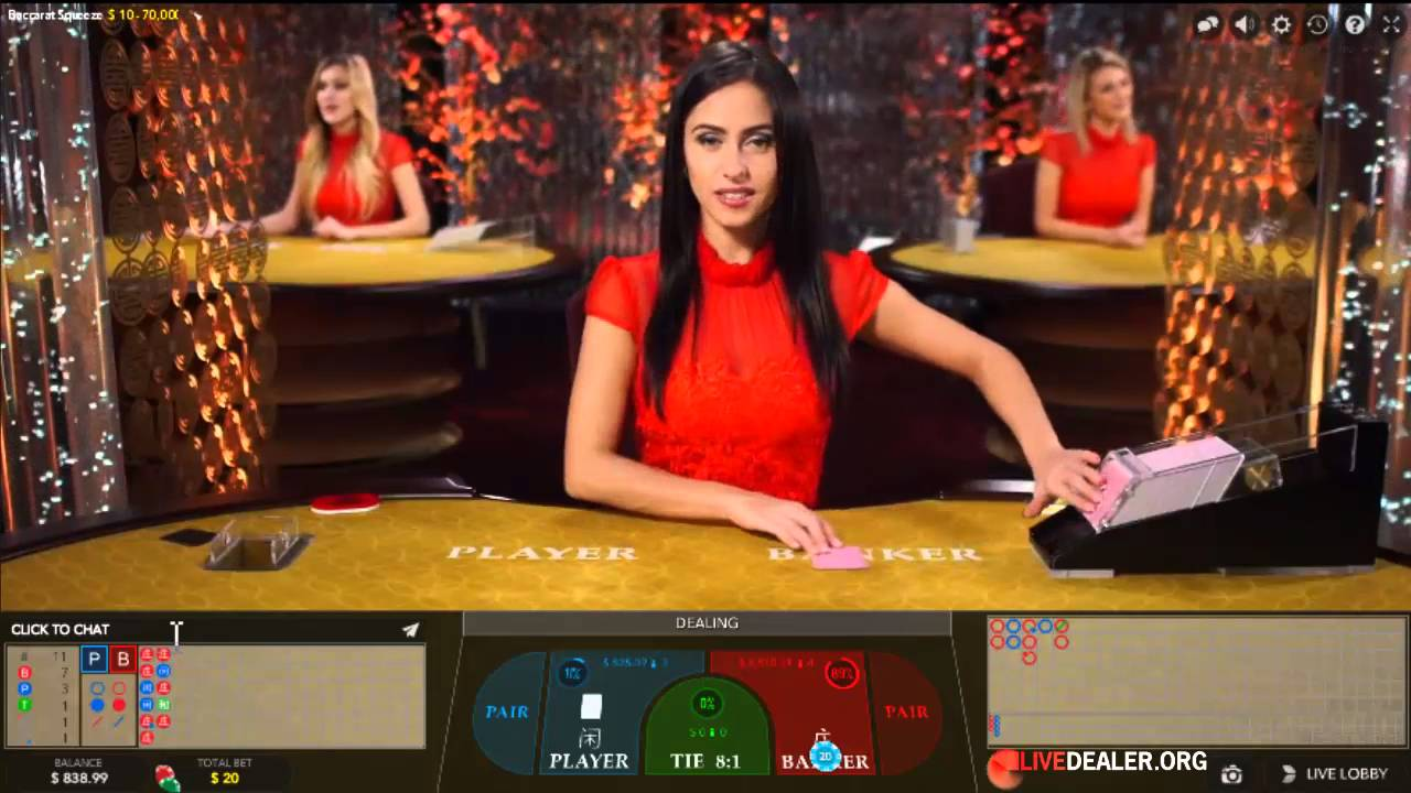 Evoluton Gaming Live Baccarat With Squeeze Youtube
