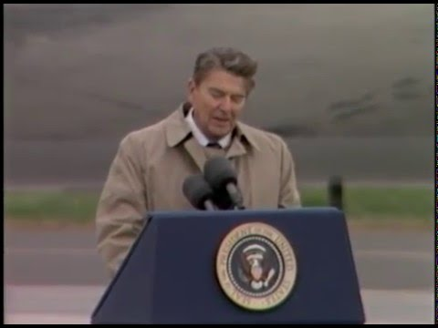 President Reagan's Arrival, remarks and Departure at Bitburg Air Base in West Germany, May 5, 1985