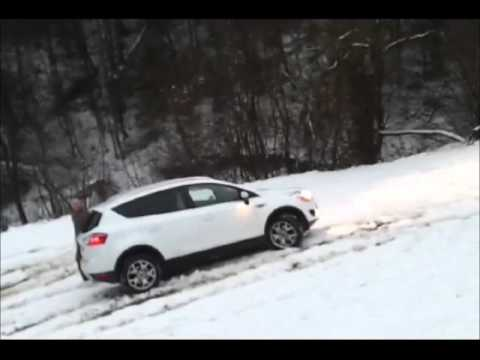 Suzuki SX4 vs Ford Kuga - AMAZING SNOW TEST - Slovenia