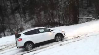 Suzuki SX4 vs Ford Kuga - AMAZING SNOW TEST - Slovenia