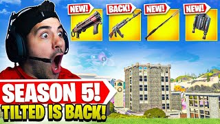 TILTED TOWERS IS BACK! *NEW* Season 5 Update! (Fortnite Battle Royale)