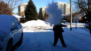 Instant Ice (Boiling Water into Ice Crystals)