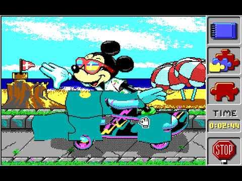 Amiga 500 Longplay [147] Mickey's Jigsaw Puzzles
