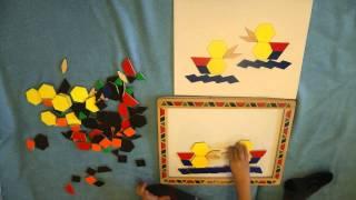 Melissa & Doug Magnetic Pattern Block Kit / Деревянная магнитная мозаика Мелисса и Даг