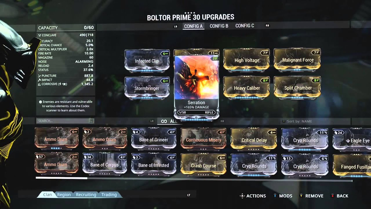 Build Boltor Warframe