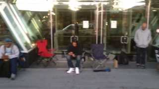 Folks waiting at the Ridge Hill Apple Store for their new iPhone (5C/S)
