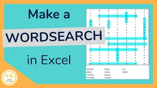 How to Create a Word Search Puzzle in Excel - Tutorial