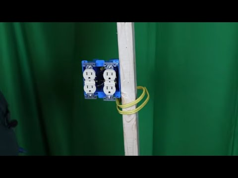 how to wire a double receptacle two different ways