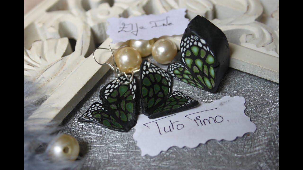 Tuto fimo la cane papillon polymer clay tutorial for Tutorial papillon