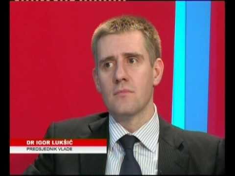 Predsjednik Vlade  Crne Gore, dr Igor Luksic, ATLAS TV 6/6