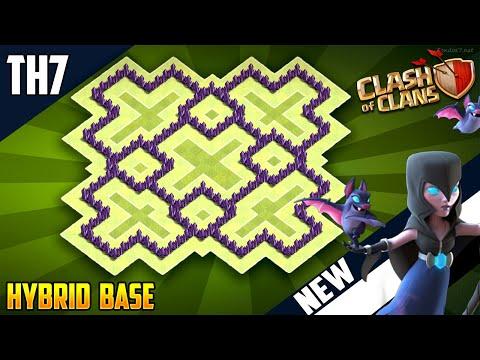 New GREATEST TH7 HYBRID/TROPHY[defense] Base 2018!!  Town Hall 7 Hybrid Base Design - Clash of Clans
