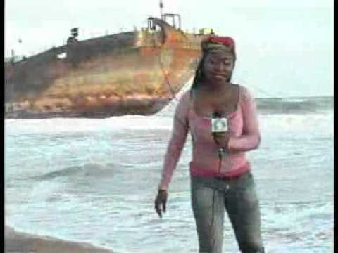 Beached Vessels. in Lagos Nigeria