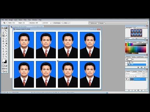 How to create passport size photo on adobe photoshop 7 0 youtube ccuart Choice Image
