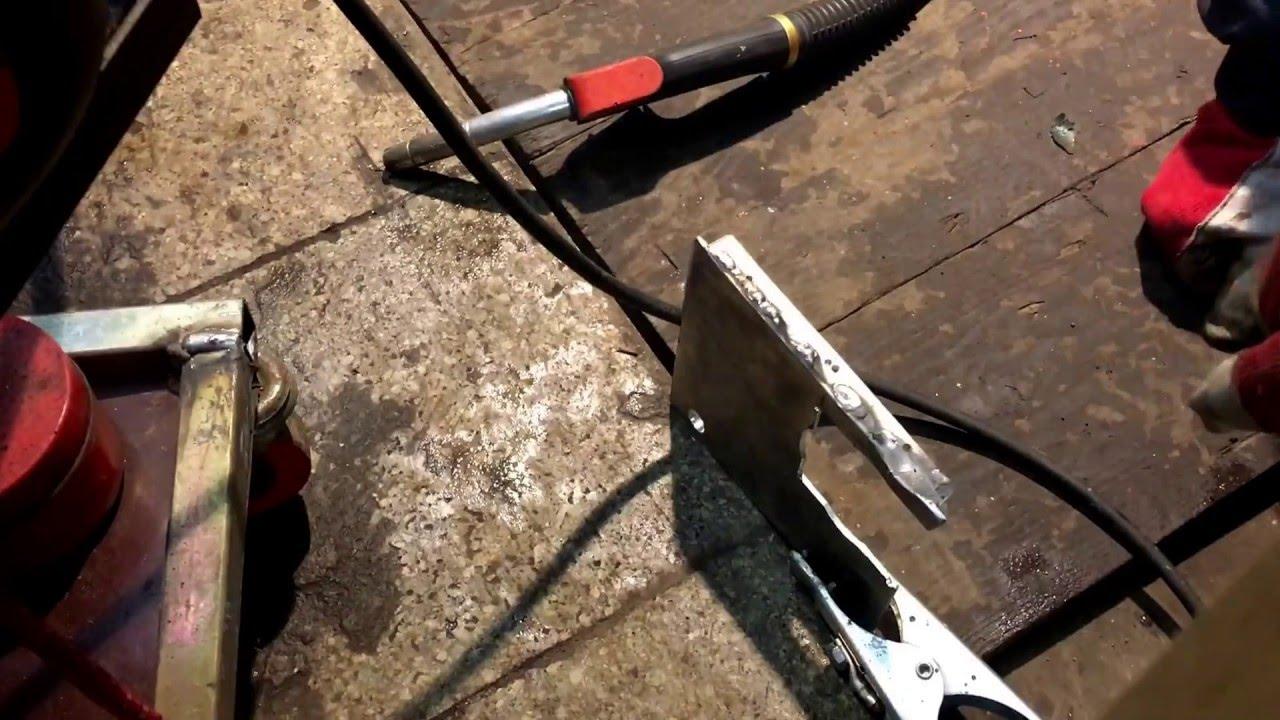 Kemppi minarc mig adaptive 180 welding of aluminum/кемппи варим ...