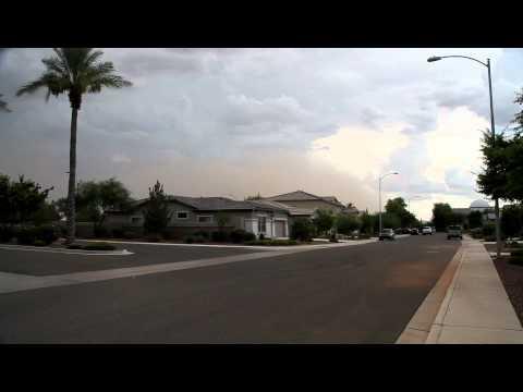 Dust storm rolling into Goodyear/Avondale, AZ 7/10/2011