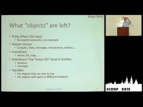 Bjarne Stroustrup - Object Oriented Programming without Inheritance - ECOOP 2015