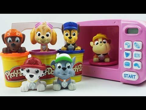 Learn Colors, Sizes with Paw Patrol Play Doh Cooking Microwave Oven Playset, Coloring Pages