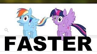 go faster pony girl but every time she said fly or flying its going 5 faster