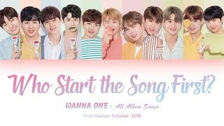 WANNA ONE (워너원) 'Who Start The Song First?' All Album Songs [Distribution Oct 2018]